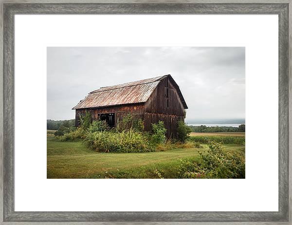 Old Barn On Seneca Lake - Finger Lakes - New York State Framed Print