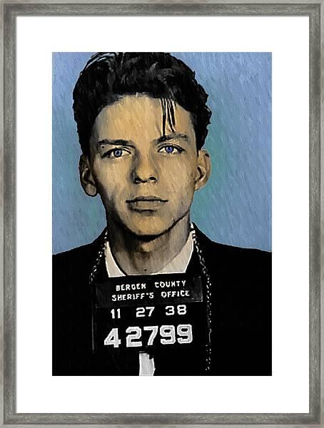 Old Blue Eyes - Frank Sinatra Framed Print