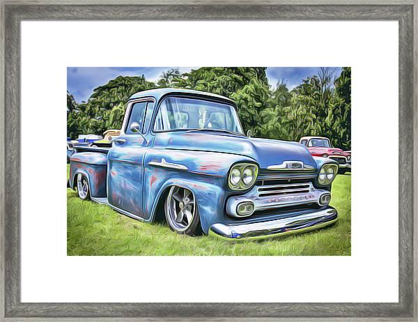 Old Blue Framed Print