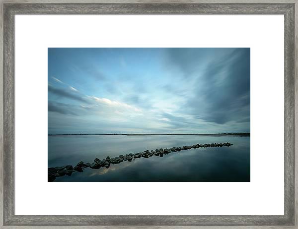 Old Blue Morning Framed Print