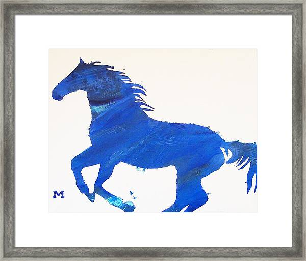 Framed Print featuring the painting Old Blue by Candace Shrope