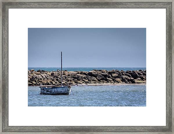 Old Boat - Half Moon Bay Framed Print