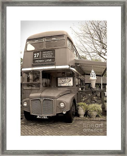 Old Bus Cafe Framed Print