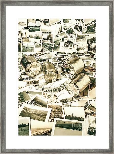 Old Business Wires Framed Print
