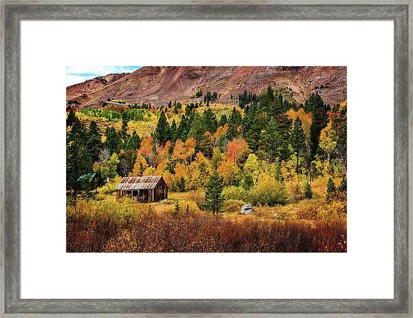 Old Cabin In Hope Valley Framed Print