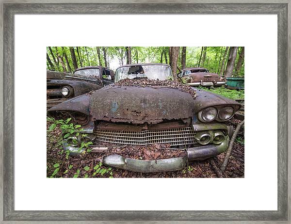 Old Car City In Color Framed Print