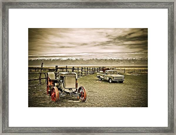 Old Case Tractor Framed Print