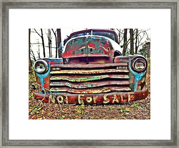 Old Chevy Truck With Graffiti Framed Print