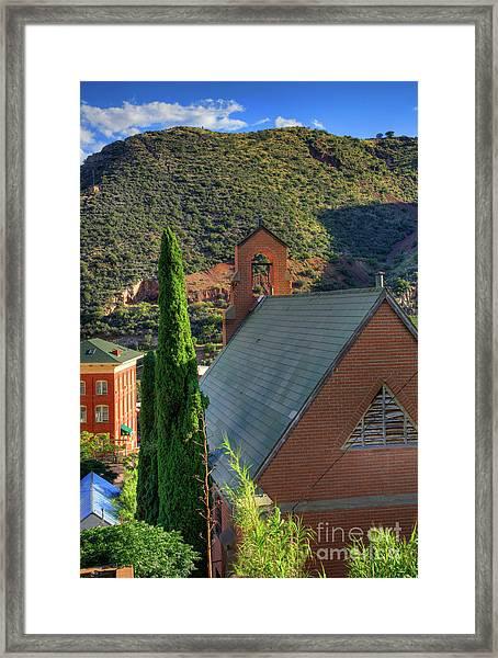 Old Church In Bisbee Framed Print