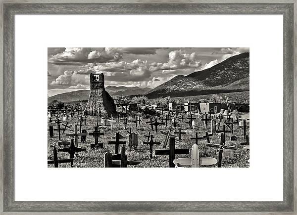 Old Church Taos Pueblo Framed Print
