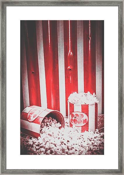 Old Cinema Pop Corn Framed Print