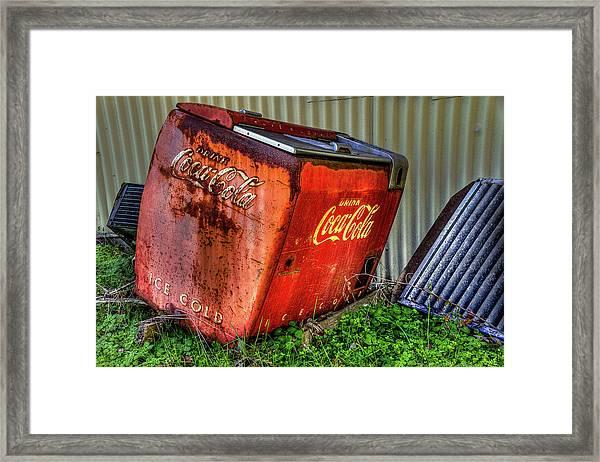 Old Coke Box Framed Print