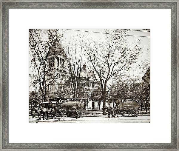 Old Courthouse Public Square Wilkes Barre Pa Late 1800s Framed Print