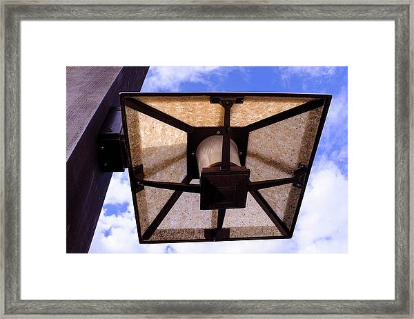 Old Dirty Light Fixture In Orlando Florida Framed Print