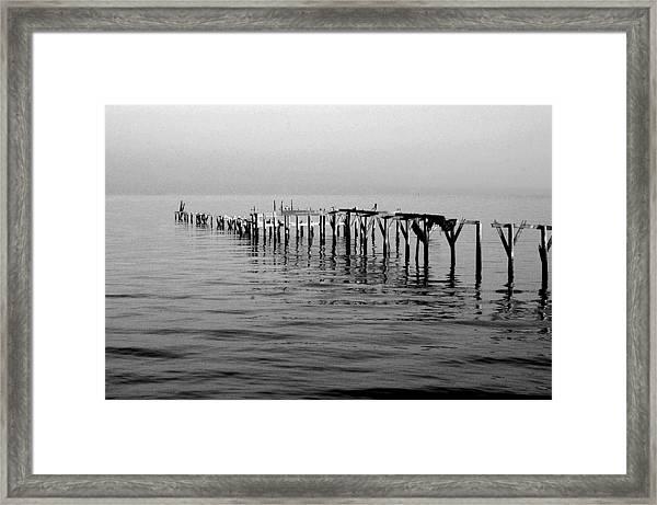 Old Dock  Framed Print