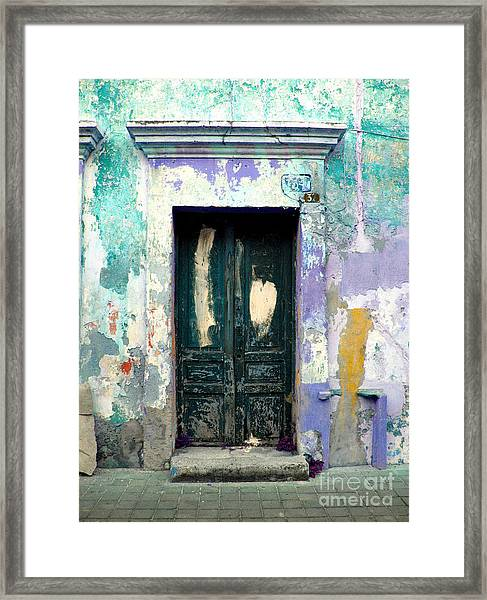 Old Door 4 By Darian Day Framed Print by Mexicolors Art Photography