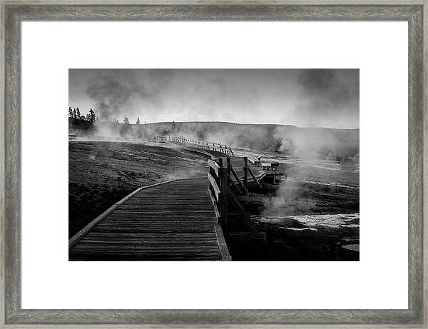 Old Faithful Boardwalk Framed Print
