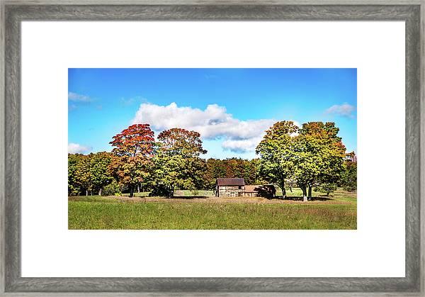 Old Farm House Framed Print