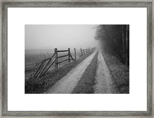 Old Farm Road Framed Print
