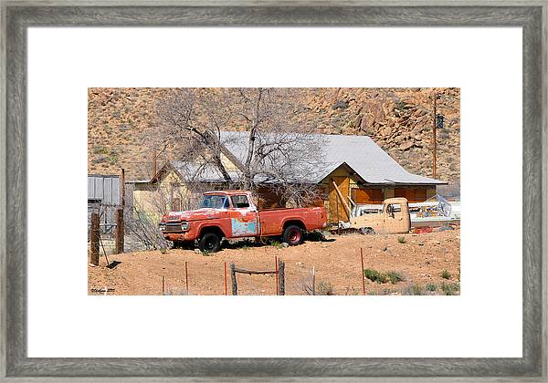 Old Farm Trucks Along Route 66 Framed Print