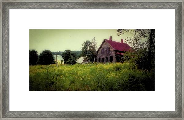 Framed Print featuring the photograph Old Farmhouse - Woodstock, Vermont by Samuel M Purvis III