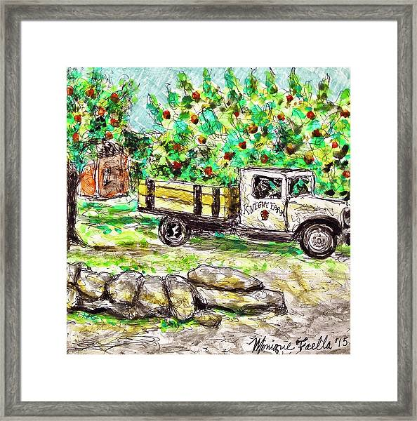Old Farming Truck Framed Print