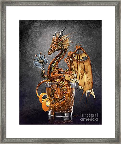 Old Fashioned Dragon Framed Print