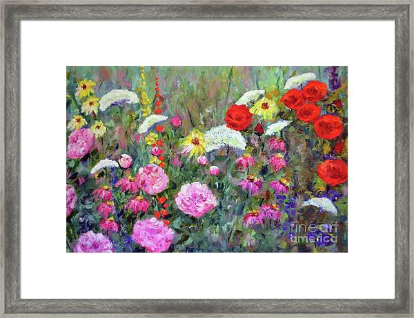 Old Fashioned Garden Framed Print