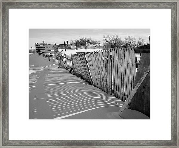 Old Fences Framed Print