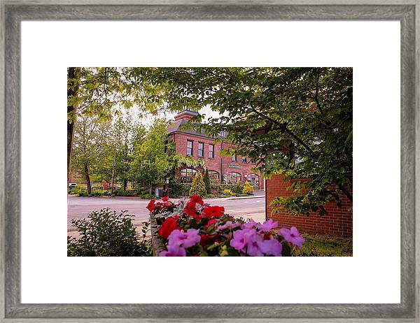 Old Fire Station Easthampton, Ma Framed Print