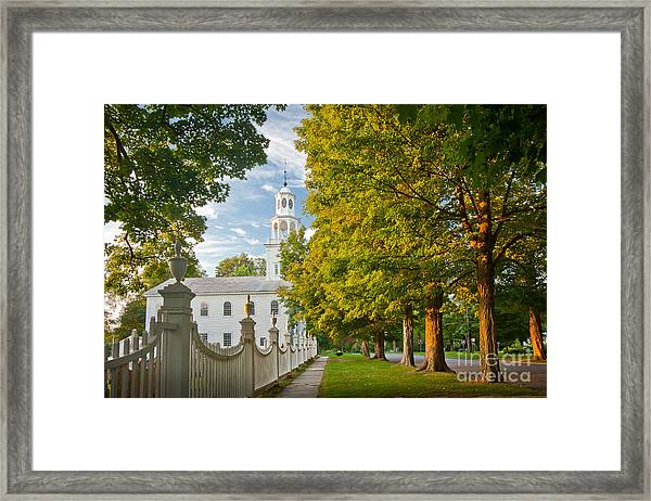 Framed Print featuring the photograph Old First Churchin Bennington by Susan Cole Kelly