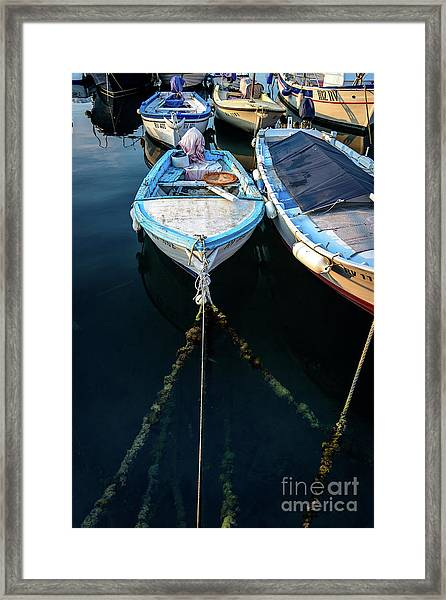 Old Fishing Boats Of The Adriatic Framed Print
