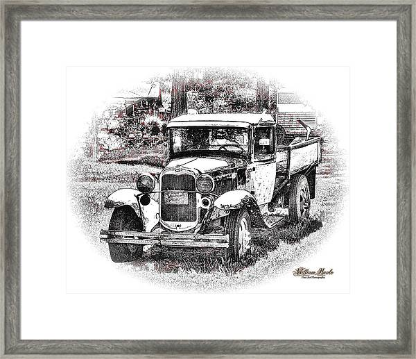 Framed Print featuring the photograph Old Ford Homemade Pickup by William Havle