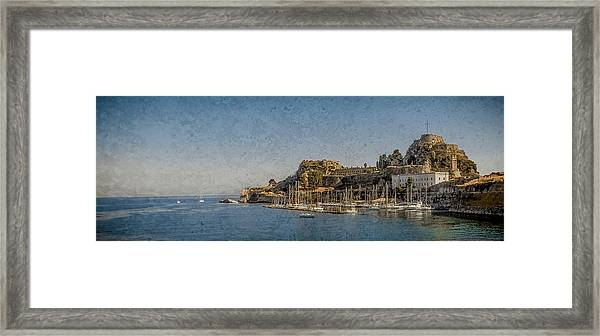 Framed Print featuring the photograph Corfu, Greece - Old Fortress North by Mark Forte