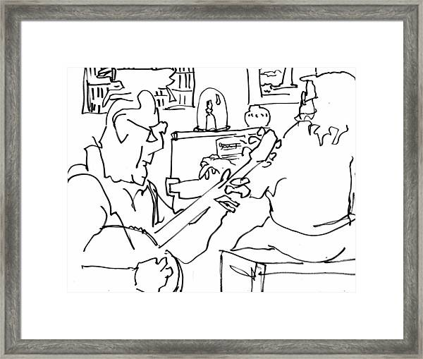 Old Friends And Fine Music Framed Print