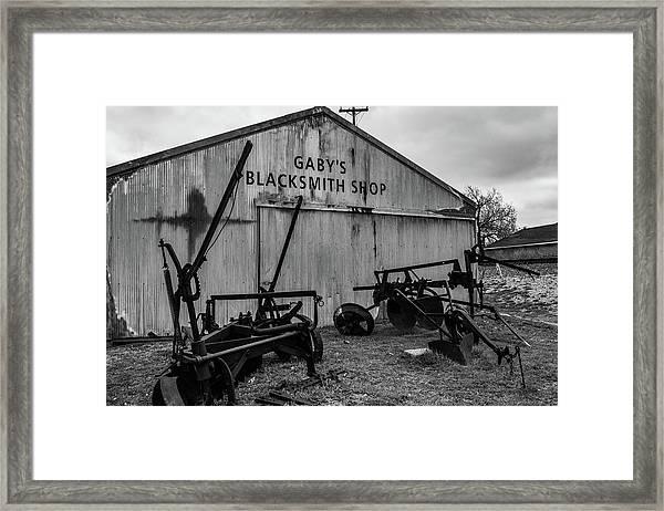 Old Frisco Blacksmith Shop Framed Print