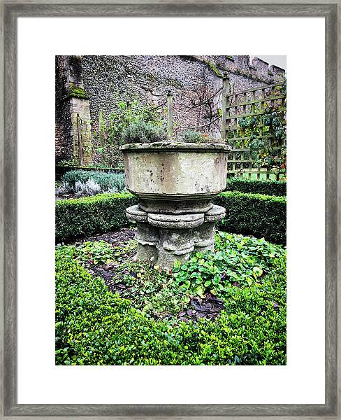Old Garden Stone Trough Framed Print