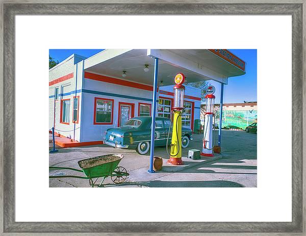 Old Gas Station Arizona  Framed Print
