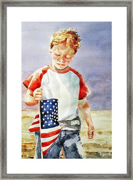 Old Glory Forever Young Framed Print