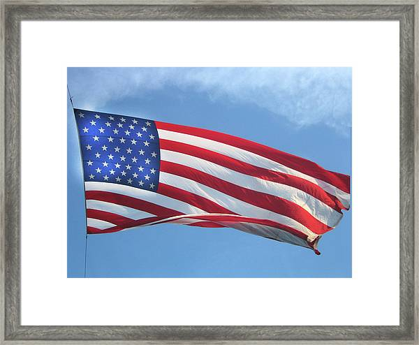 Old Glory Never Fades Framed Print