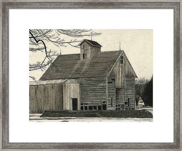 Old Grainery Framed Print by Bryan Baumeister
