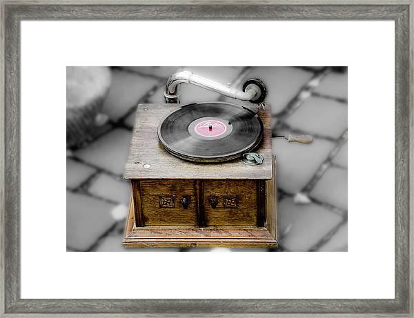 Old Gramophone Framed Print