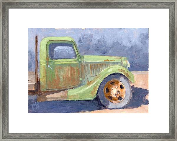 Old Green Ford Framed Print