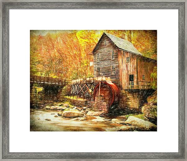 Old Grist Mill Framed Print