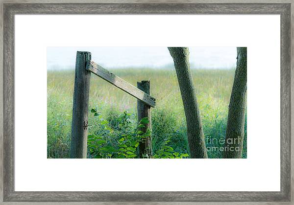 Old Hand Rail Framed Print