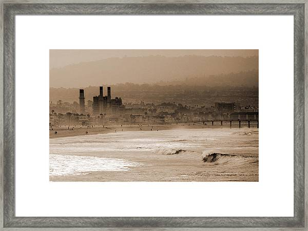 Old Hermosa Beach Framed Print