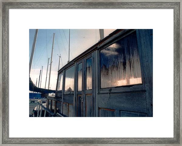 Old House Boat Framed Print