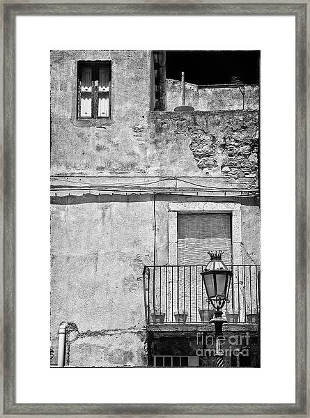 Old House In Taormina Sicily Framed Print