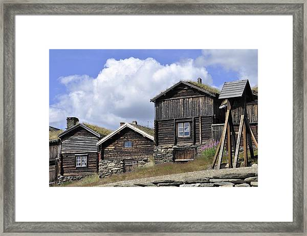 Old Houses In Roeros Framed Print