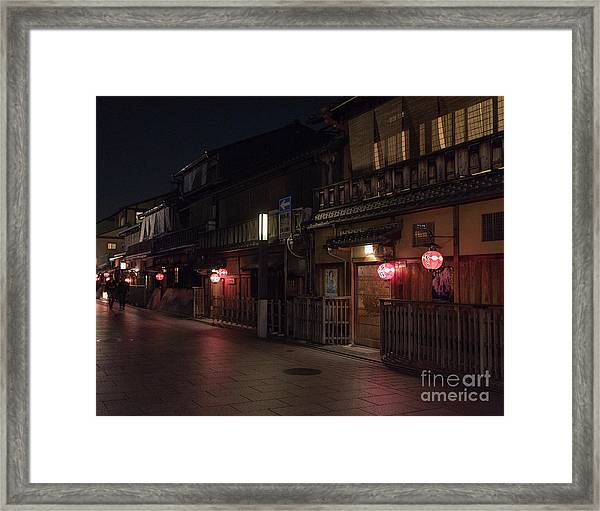 Old Kyoto Lanterns, Gion Japan Framed Print